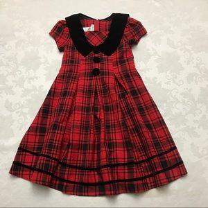 Bonnie Jean Plaid Christmas Dress Black Red